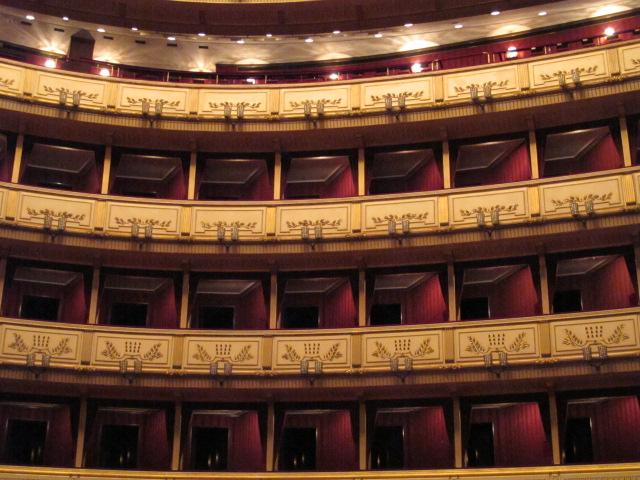 seating, Vienna Opera House