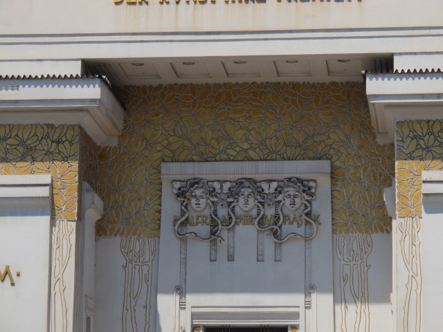 detail of Secession building, Vienna, Austria