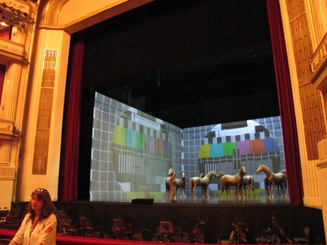 rehearsal on stage, Vienna Opera House