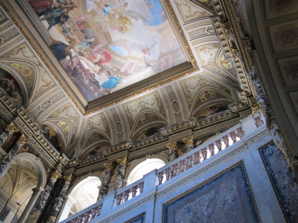 stairwell ceiling, Kunsthistorisches Museum Vienna, Austria