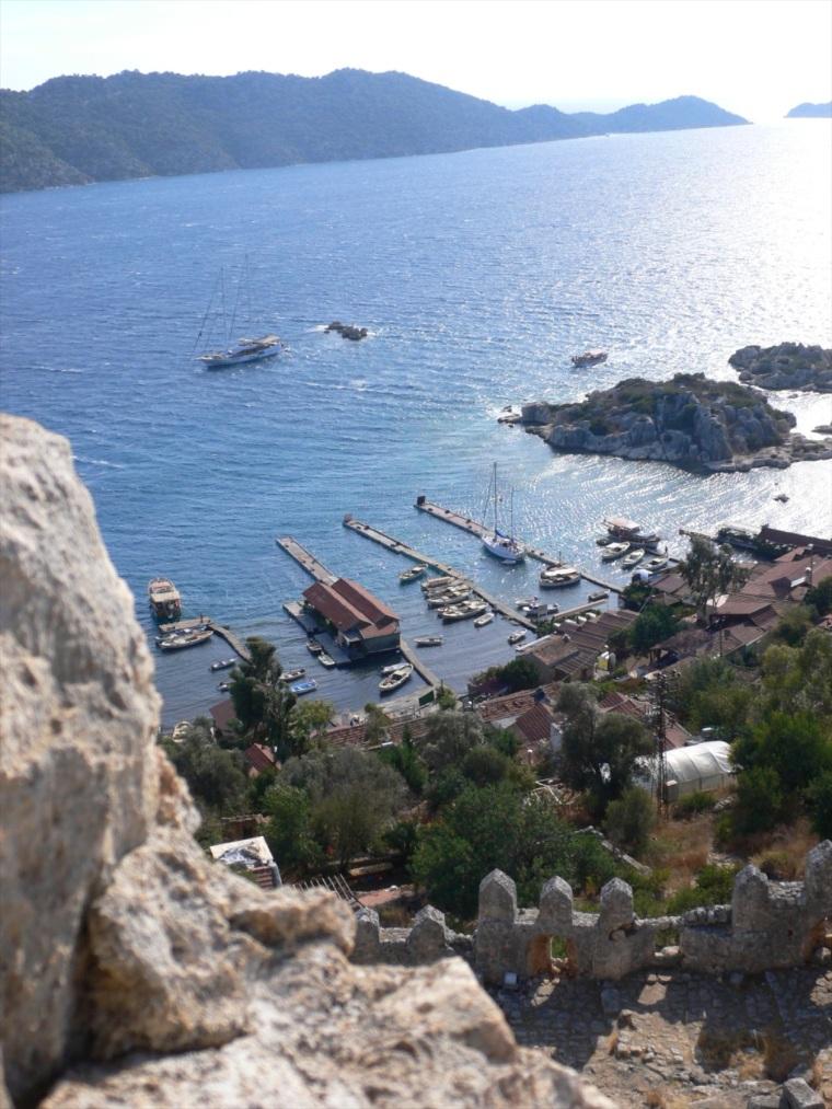 view from castle, Kalekoy, Turkey