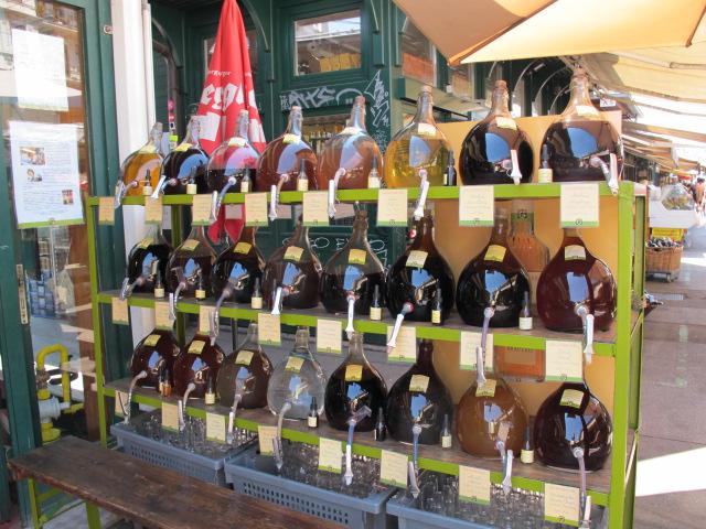 vinegar or oil? Naschmarkt, Vienna