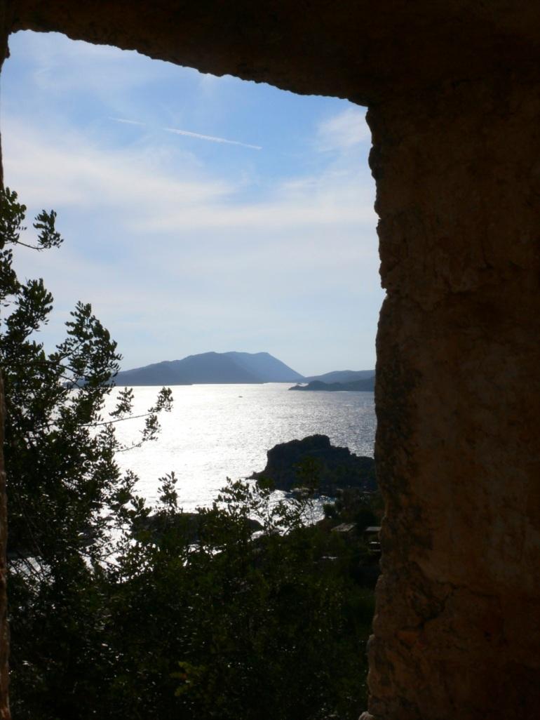 window view of the Mediterranean