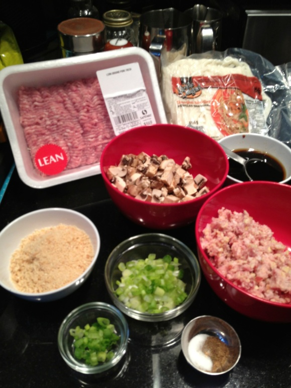 ingredients for noodle dish