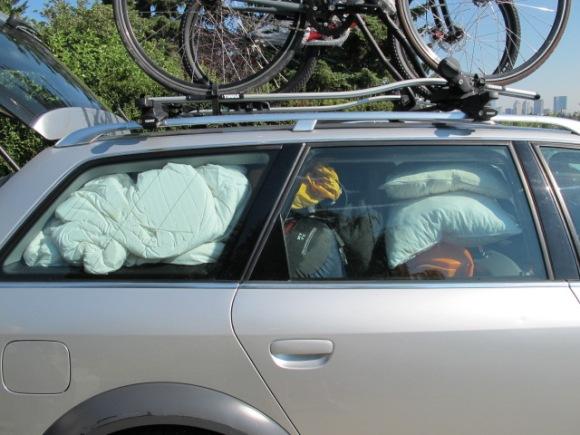 fully loaded car