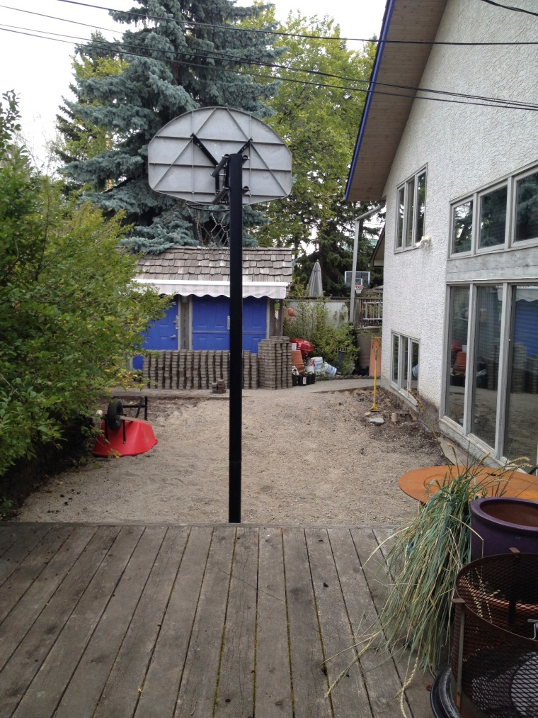 back yard under construction