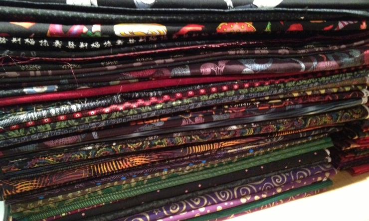 dark colored fabrics