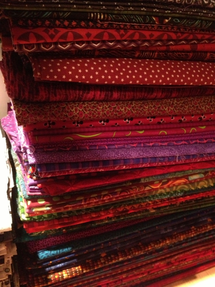 lots of red fabrics