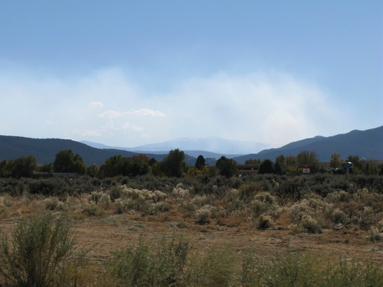 smoke in the distance