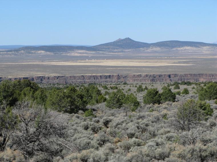 solitary New Mexico peak