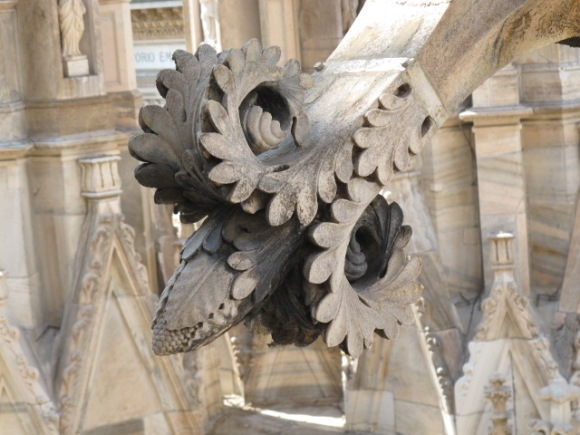 carved buttress detail