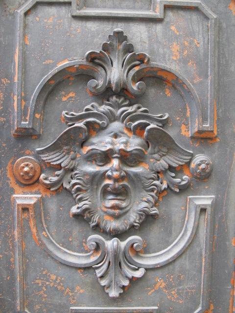 carved door panel