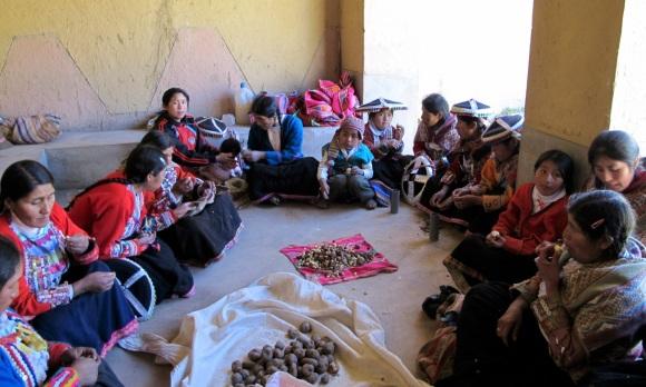 lunch group in Peru