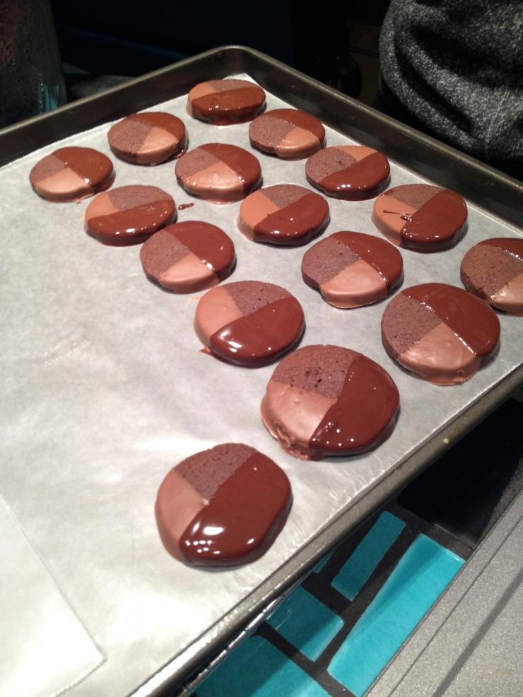 mocha cookies twice dipped