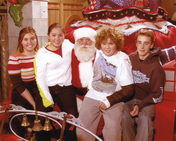 Santa and the kids