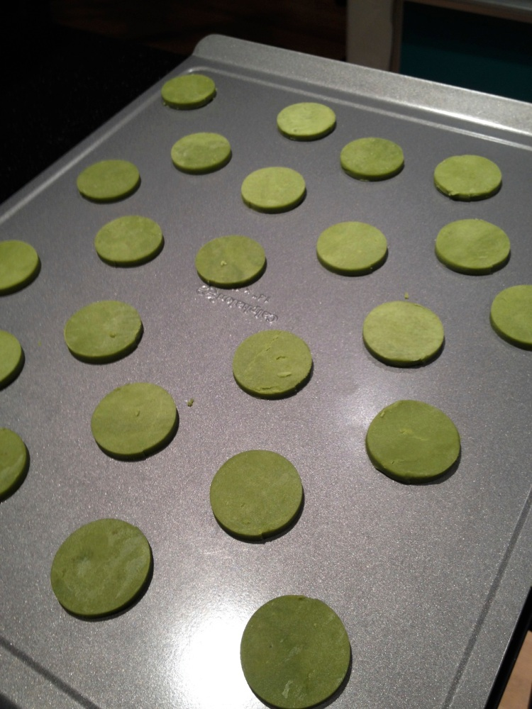 unbaked green tea cookies