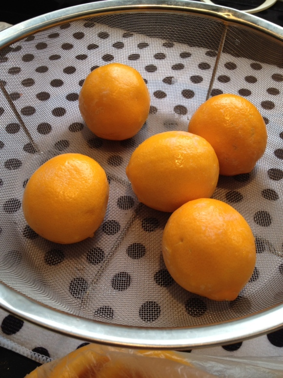 washed Meyer lemons