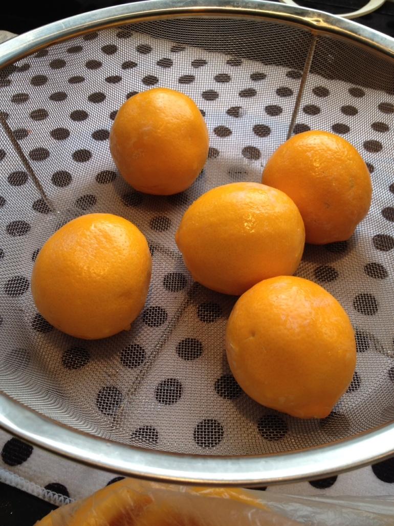 washed Meyer lemons