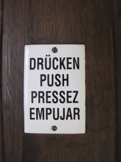 drucken push sign