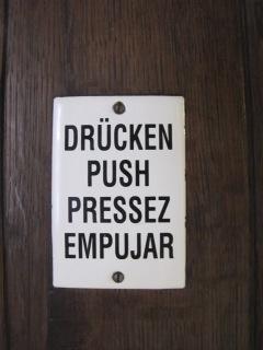 drucken push sign