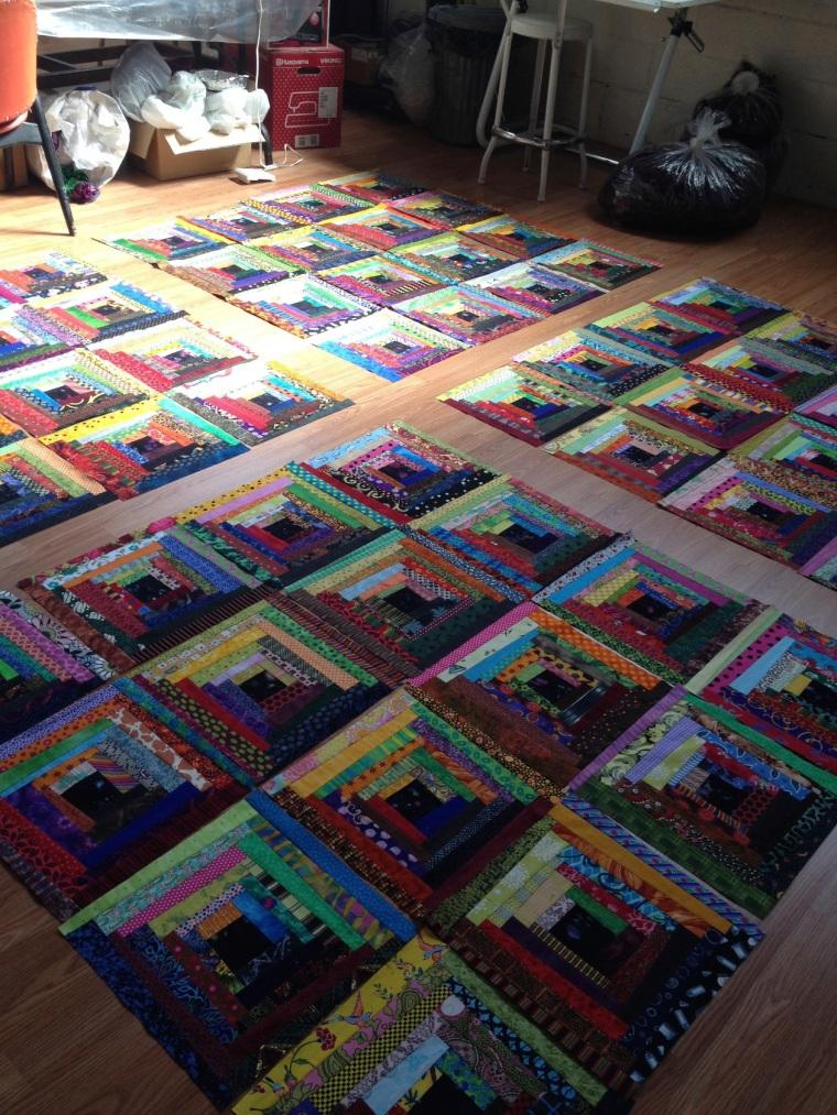 arranging quilt blocks