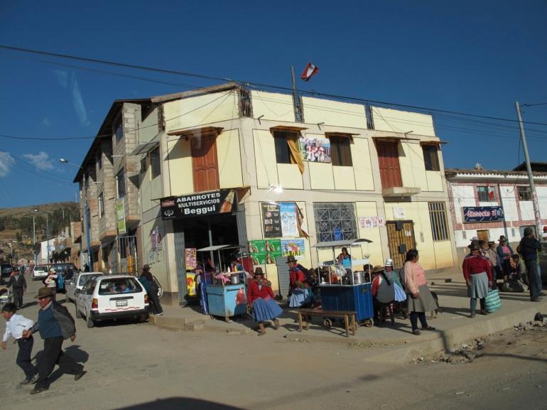 village street, Peru