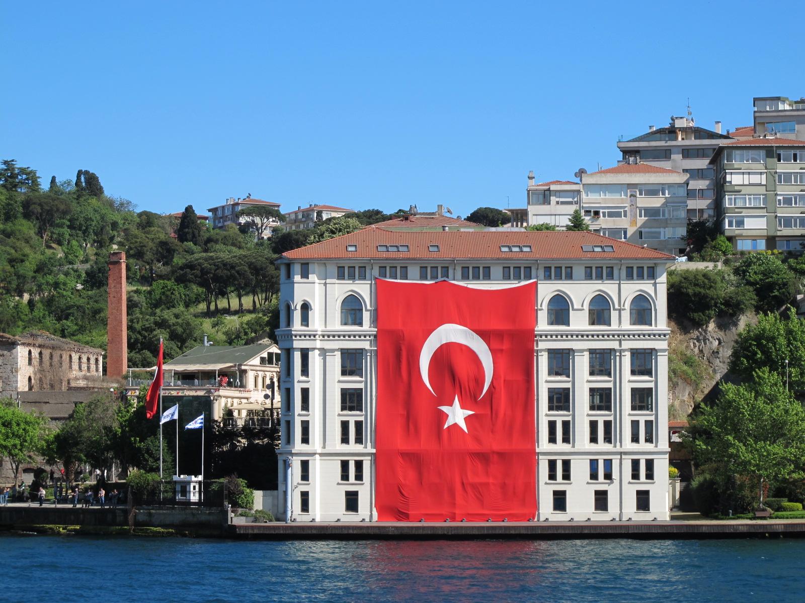 large Turkish flag