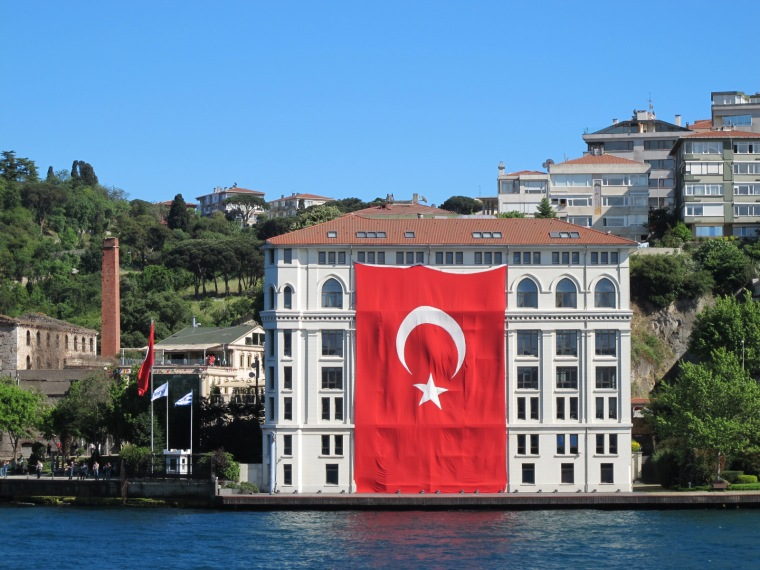 large Turkish flag