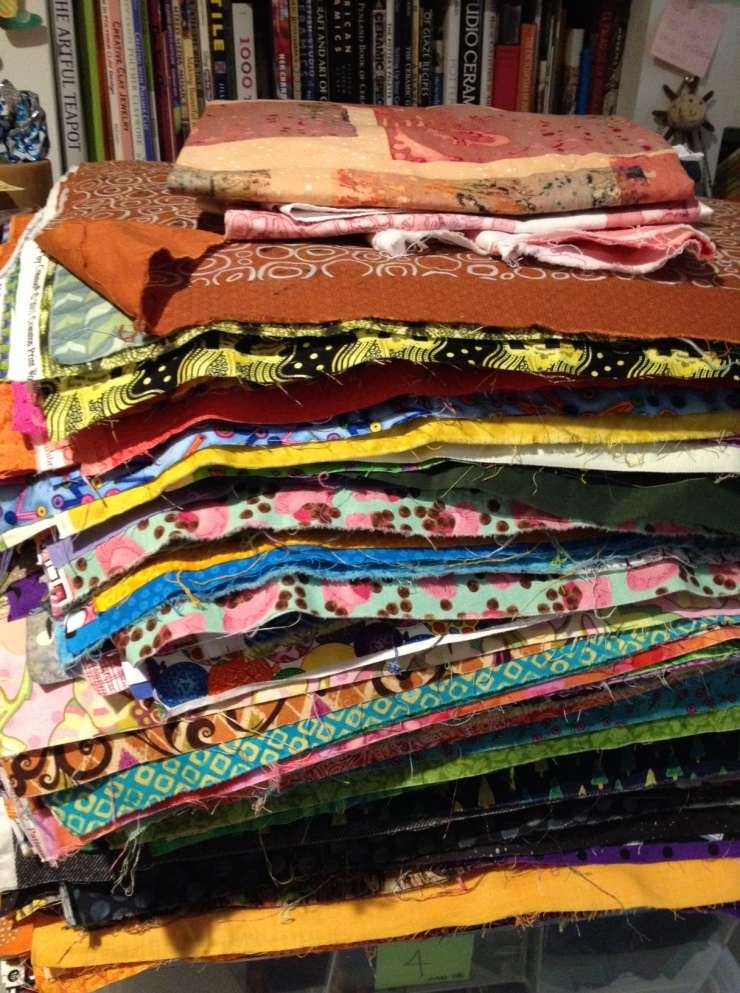printed fabric stack