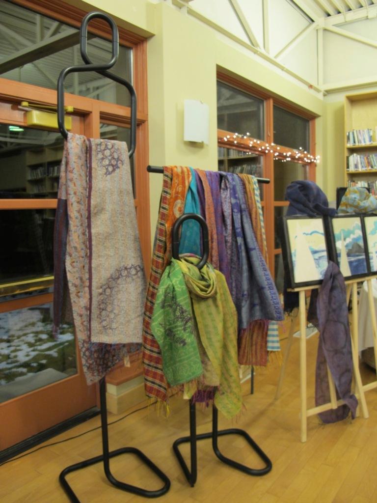 India silk scarves