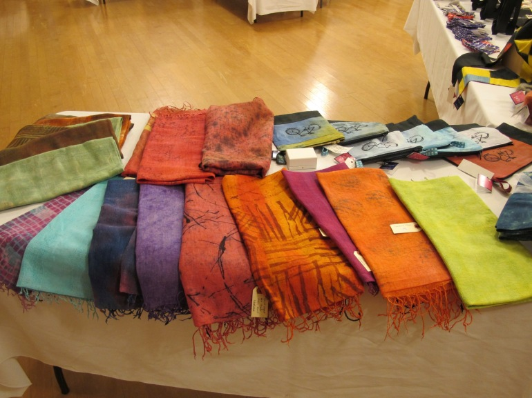 scarves and bags
