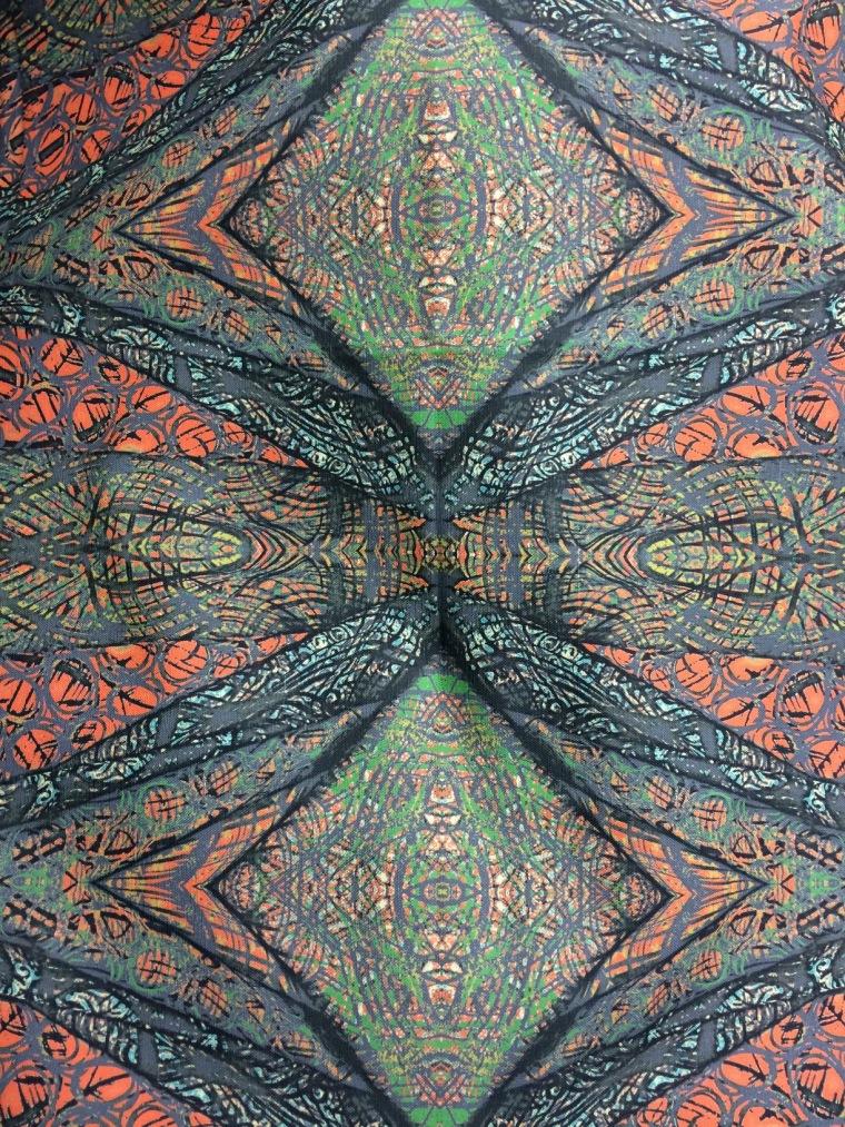 silk screened fabrics pattern