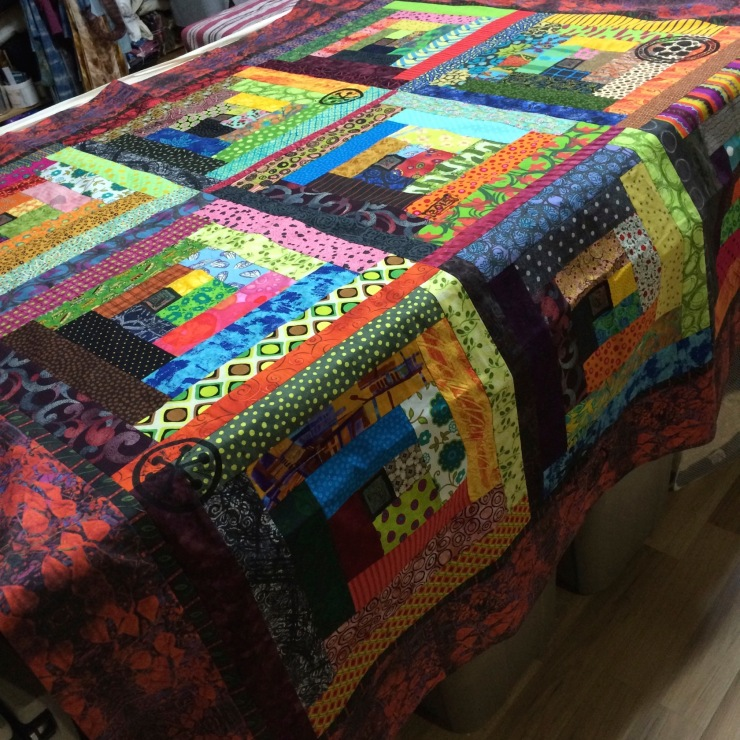 printed quilt top