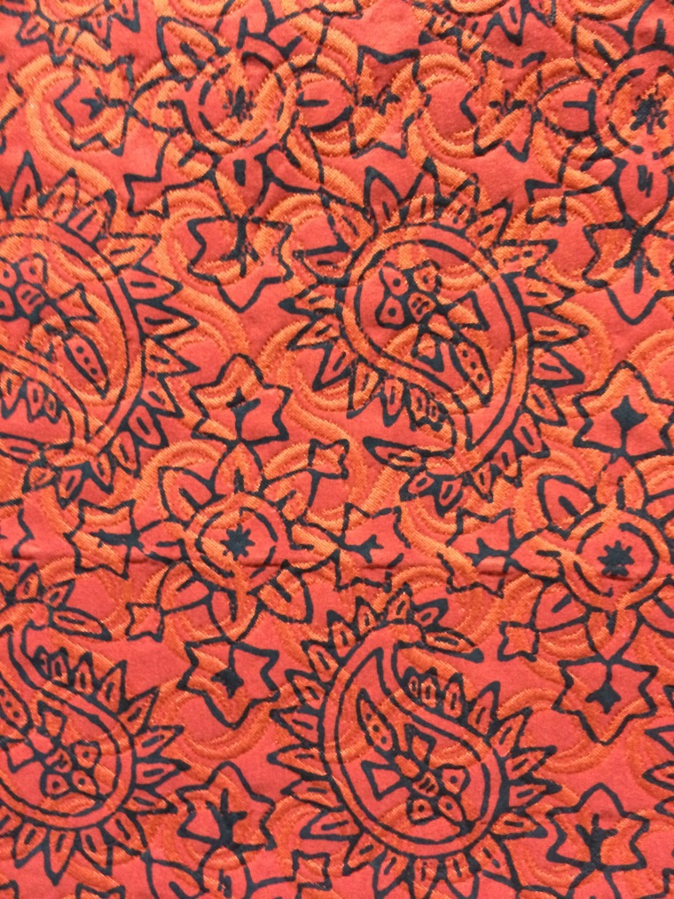 paisley design on upholstery fabric