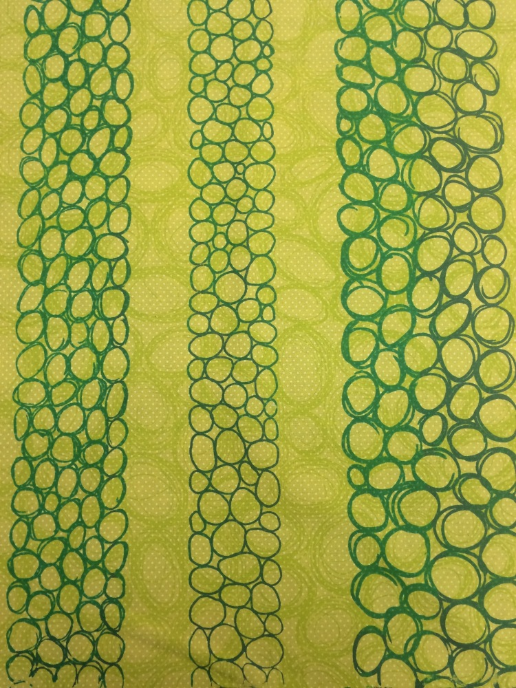 my screen printed fabric