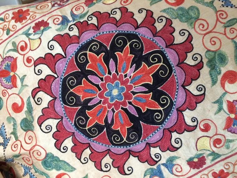 suzani embroidery detail