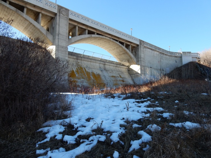 below the reservoir