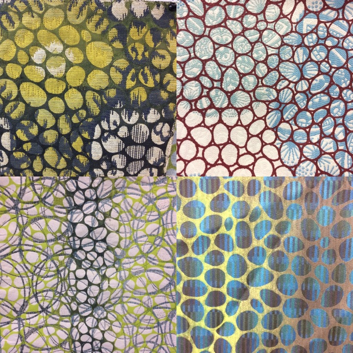 samples of my fabric printing